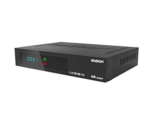 Edision OS mini Full HD Satelliten-Receiver (1x DVB-S2, WLAN onboard, 2x USB, HDMI, LAN, Linux, Kartenleser)  schwarz