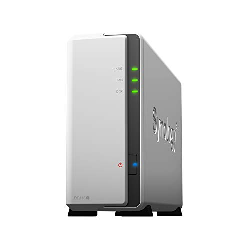 Synology DS115j 1 Bay Desktop NAS Enclosure, White