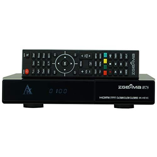 ZGEMMA H7S mit 2*DVB-S2X + DVB-T2/C 4K UHD Satelliten Receiver FTA IPTV(CI+,HDD,Kodi)