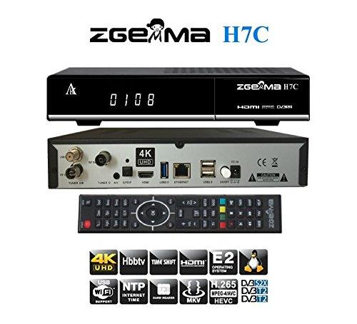ZGEMMA H7C mit DVB-S2X Multistream-Tuner und 2 * DVB-T2 / C Hybrid Tuner 4K UHD Satellitenempfänger FTA