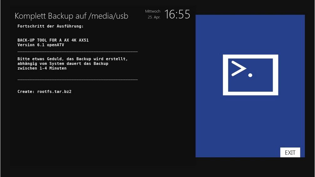 OpenATV Image Backup auf USB Stick
