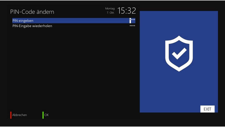 CI-Einstellungen PIN-Code / openATV-Image