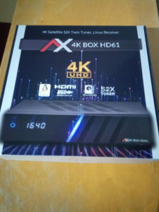 AX 4K-Box HD61 Verpackung